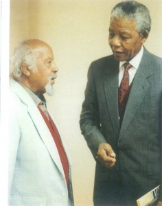 Bill Sutherland and Nelson Mandela shortly before an African National Congress executive committee meeting in July 1992
